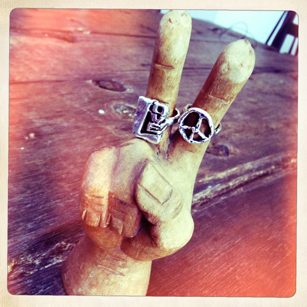 Peace and love rings