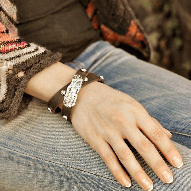 Inspirational Wrap bracelet pearl