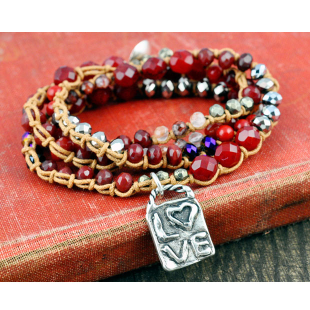 Into the Fire Inspirational Bracelet
