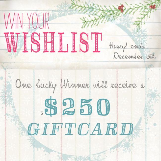Win your wishlist!