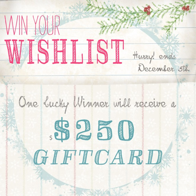 Win your wishlist!