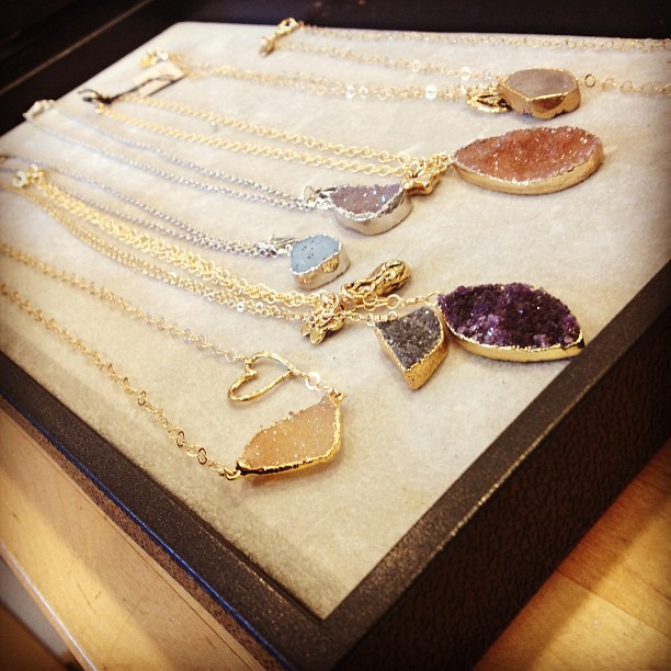 drusy necklace