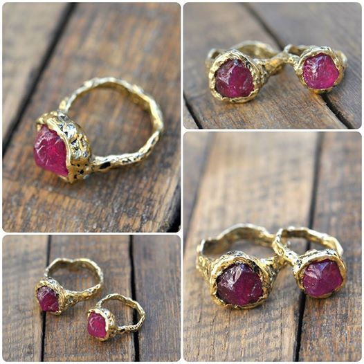 ruby engagement ring, raw engagement ring