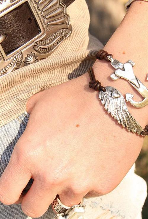 anchor wing bracelet