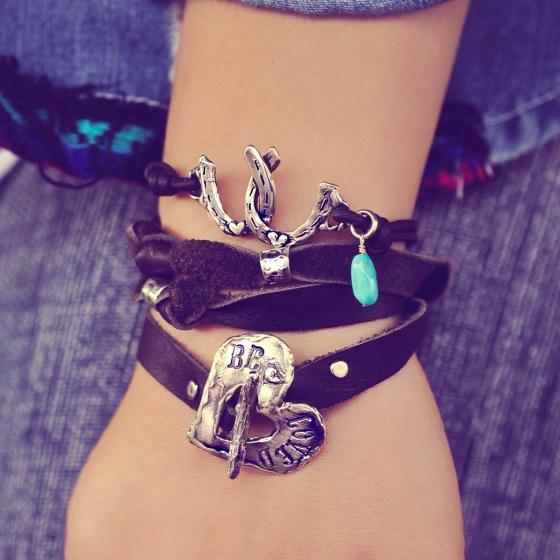 inspirational jewelry leather wrap bracelet