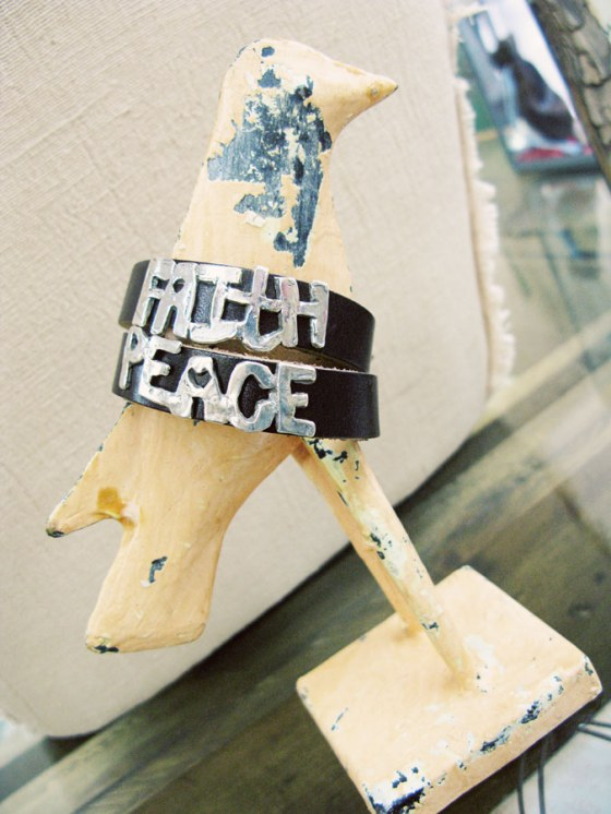 peace leather bracelet faith leather bracelet