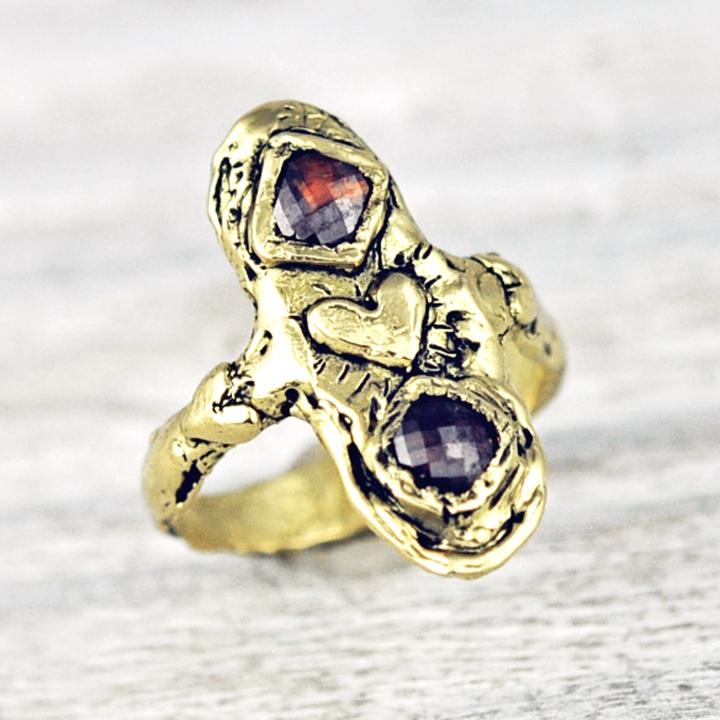 cognac diamond ring alternative engagement ring