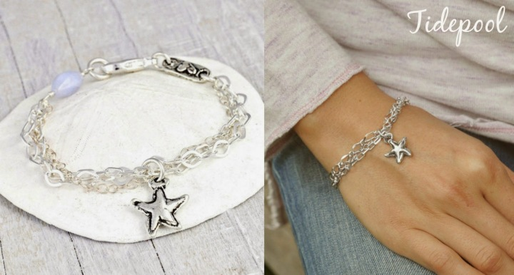 tide pool starfish bracelet