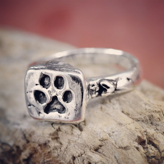 puppy paw dog paw ring