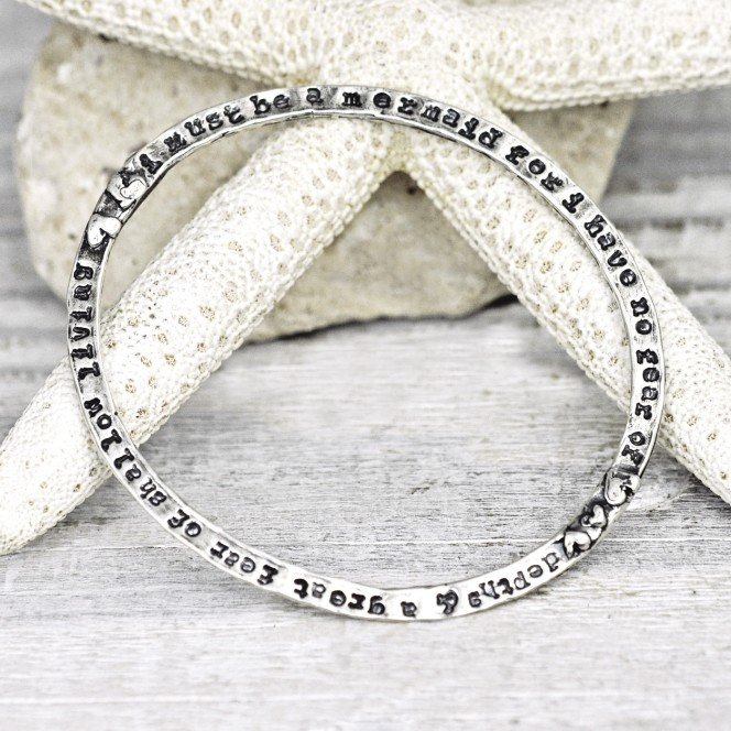 anais nin mermaid bangle silver