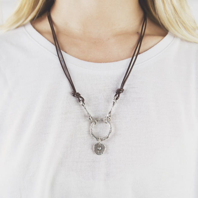 cowgirl snaffle leather necklace