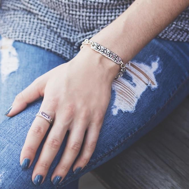 dog paw bracelet dog paw ring